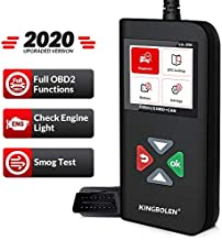 KINGBOLEN OBD2 Scanner YA-206 Code Reader,Car Engine Scan Tool with Full OBD2 Functions,Read and Clear DTCs for MIL Turn-Off Check Engine Light,Car Code Scanner for O2 Sensor and Smog Test
