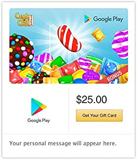 Google Play Gift Code - Email Delivery. Get up to a $39 bonus in Candy Crush Saga (US only)