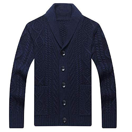 LILIZHAN Herfst Heren V-hals Gebreide Trui Jas Nieuwe Merk Mode Button Up Losse Vest Warm Kwaliteit Wol Mannelijke Trui voor Winter