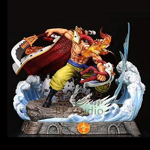 TELEPHNY Animation Figur One Piece Whitebeard Kampf Gegen Rote Hunde Figuren Figuren Statue 22cm