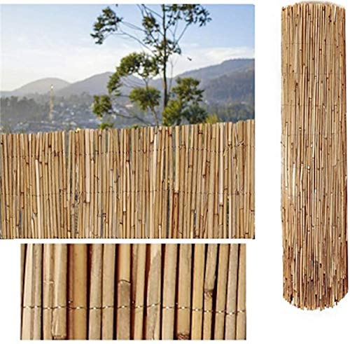 COMERCIAL CANDELA FELPUDOS Y ALFOMBRAS Cañizo de Bambu Pelado Privacidad Jardín Cerramiento (1_x_5_Metros)