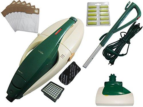 Vorwerk Kobold Vk 131 + Cepillo Eléctrico Eb 351 + Canal de Aspiración + Cable + Mango Inkl. Nuevos Filtro (Microfiltro y Filtro de Olor) + 6 Vellón Bolsa