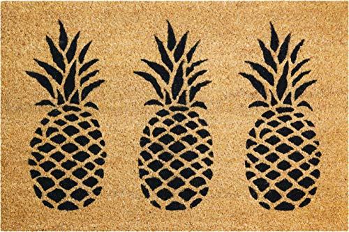 ID Mat Coco Naturel Ananas Tapis Paillasson, Beige, 40x60x1,5 cm