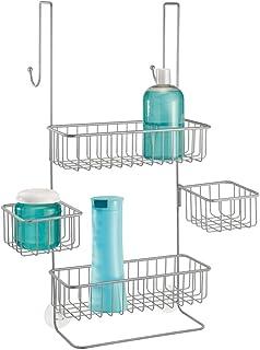 mDesign Etagere de Douche sans perçage – Valet de Douche pour shampoing, Gel Douche, Gant de Toilette, etc. – serviteur de...