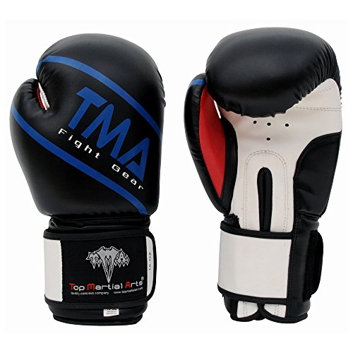 TMA Boxing Gloves Best for Kickboxing, Martial Arts, MMA, Muay Thai (16 oz)