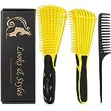 Detangle Hair Brush, Detangler Brush for Women Girls Wet Dry Afro 3a to 4c Thick Frizzly Wavy Kinky...