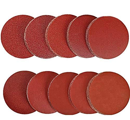 schleifpapier schleifscheiben 125 mm klett 10 x (60/100/150/240/400/600/800/1000/1500/2000) 100 Stück für Exzenterschleifer Schleifteller