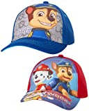 Nickelodeon Boys Paw Patrol Baseball Cap 2 Pack (Ages 2-7), Blue/Red 4-7