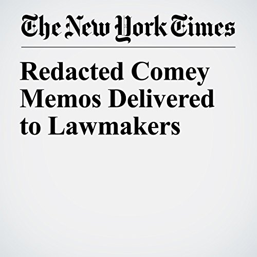 Redacted Comey Memos Delivered to Lawmakers copertina
