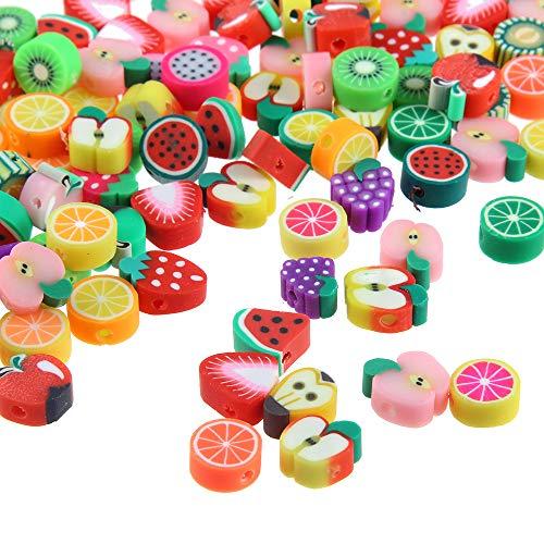 Ogquaton Obst perlen DIY Armband perlen rund perlen weichen Topf Obst perlen Handwerk zubehör 50 stück kreativ und nützlich