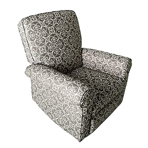 JC Home BT-R8389A30 Recliner, Gray and White