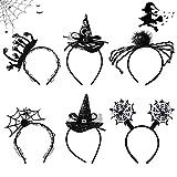 GLAITC Fascia per Strega di Halloween,6 Pezzi Fasce per Bambini di Halloween per Adulti Costume di Halloween Accessori per Capelli per Feste di Halloween Accessori per Feste in Costume