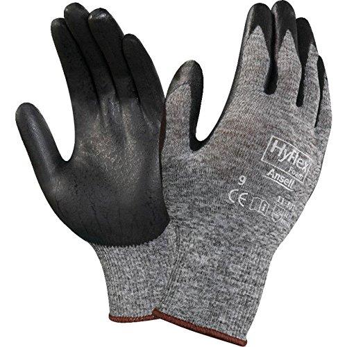 Ansell 11-801 Hyflex Gants de travail avec revêtement en nitrile Taille 48 XL
