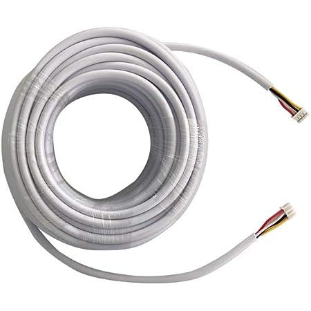 TMEZON 15M RVV4 Cable de 4 hilos para videoportero Timbre de la puerta timbre de la puerta intercomunicador cable Cable de extensión de cable intercomunicador, blanco