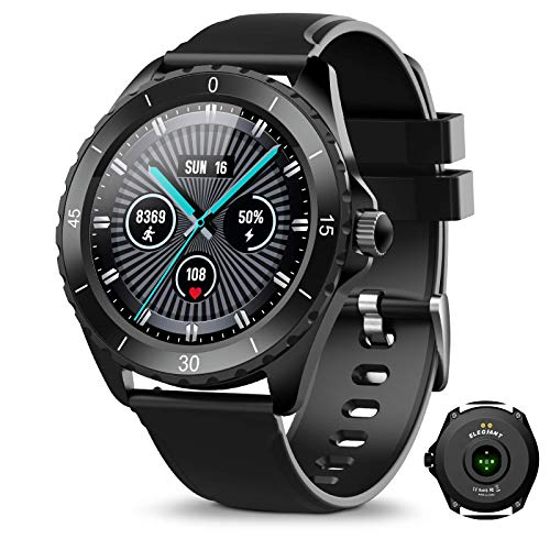 ELEGIANT Fitness Activity Tracker, Smartwatch Bluetooth 5.0 Orologio Impermeabile IP68 con 1,3' Schermo Toccato 24 Sport 128MB Capacità per iPhone Sam