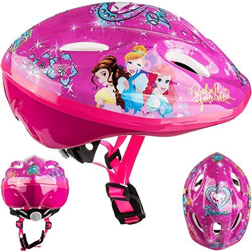 alles-meine.de GmbH Kinderhelm / Fahrradhelm - Disney Princess - Prinzessin - Gr. 52 - 56 - Circa 3 bis 15 Jahre - Größen verstellbar / mitwachsend - TÜV geprüft - Helm - für Rol..