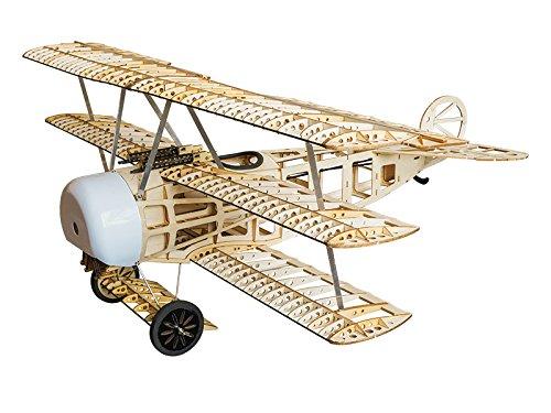 Balsa Wood Modelo de avión FOKKER Dr.I modelo de avión de 4 canales eléctrico RC Kit para construir para adultos S1701