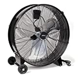 XPOtool Ventilador de tambor industrial 60 cm 180 W ventilador de suelo portátil 3 velocidades