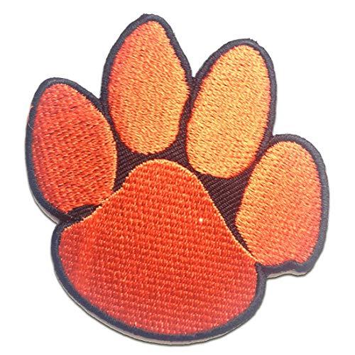Aufnäher/Bügelbild - Hundepfote Tier - rot - 6.6 x 7 cm - Patch Aufbügler Applikationen zum aufbügeln Applikation Patches Flicken