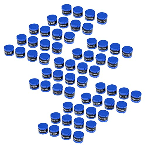 sharprepublic 60 Piezas Sin Resbalones de Sudor Absorben Tenis Squash Bádminton Raqueta de Agarre Cinta de La Cinta Overgrip Sweatband Pesca Pole Grip Azul Negro Ro - Azul