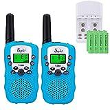Sigdio Walkie Talkies Niños PMR446 con 8 Piezas Baterías Recargable y Cargador 8 Canales Función VOX LCD