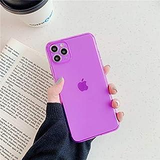 جرابات CRISTY-Fitted - جراب هاتف بتصميم لوني نيون فلورسنت لهاتف iPhone SE 2020 11 Pro X XR XS Max 7 7Plus جراب خلفي من الس...