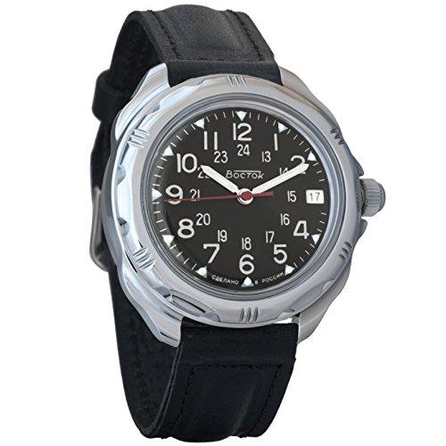 Vostok Komandirskie 24 Hour Dial Mechanical Mens Military Wrist Watch #211783 (Classic)