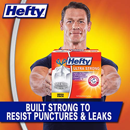 Hefty Ultra Strong Tall Kitchen Trash Bags - Lavender Sweet Vanilla, 13 Gallon, 80 Count, 80 Count, White, 80 Count