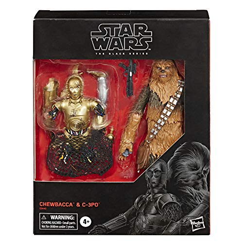 """Star Wars The Black Series Chewbacca & C-3PO Toys 6"""" Scale The Empire Strikes Back Collectible Figures (Amazon Exclusive)"""