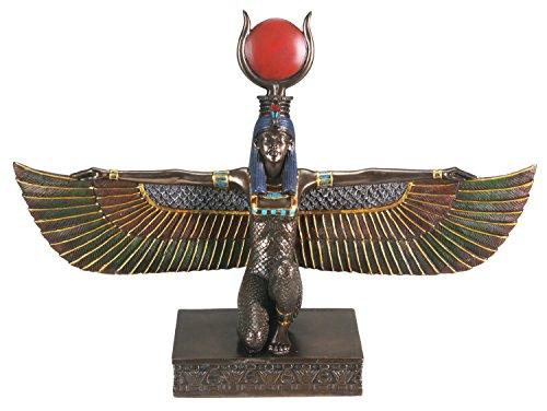Bronzefigur Isis mit offenen Flügeln
