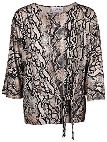 Joseph Ribkoff Damen Bluse mit Binde-Detail Größe 46 EU Beige (beige)