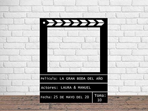 Oedim Photocall en Pegasus Cine 100x125cm | Photocall Cine | Regalos para Bodas| Photocall Troquelado con Atrezzos Decorativos