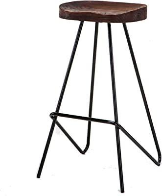 Bar Furniture Bar Chairs Trend Mark Solid Wood Bar Chair Leisure Creative High Stool Personality Bar Chair Modern Simple Backrest High Stool.
