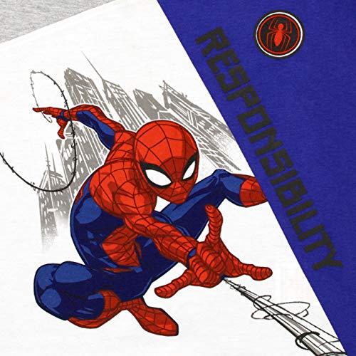 Marvel Maglietta e Pantaloncini per Ragazzi Spiderman Multicolore 8-9 Anni