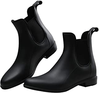 Women Rain Boots Waterproof Ankle Garden Shoes Non-Slip Short Chelsea Booties