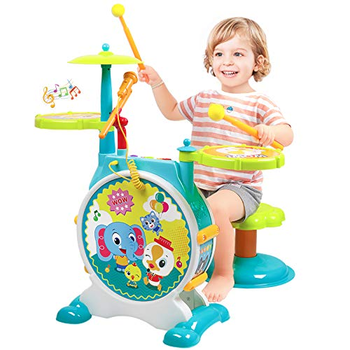 Kids Drum Set Musical Instrument Toys Drum Set for Toddlers 1-3 Educational Musical...
