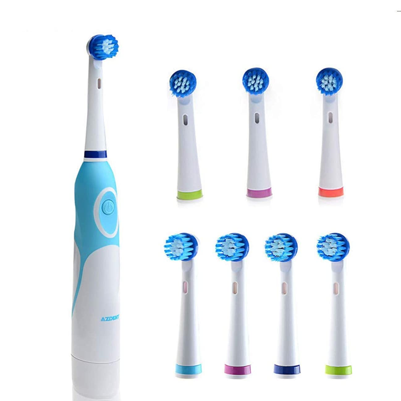 キウイ右二大人のための8つのブラシの頭部の回転歯ブラシの口頭心配の歯ブラシが付いている歯ブラシ、