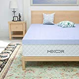 Mecor 3 Inch 3' Queen Size Gel Infused Memory Foam Mattress Topper - Ventilated Design Bed Topper, Purple