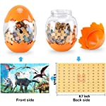 Dinosaur Puzzle, Wooden Puzzles 60 Pieces Puzzles for Kids 3 Years+ Dino Toys 2 Pack Boys Girls Gift 9 ❤SUPER HUGE SIZE DINOSAUR EGG TOY:8.7'' * 5.2 '' , kids need two hands to hold it, combining dinosaur egg with dinosaur puzzle, all kids love it! ❤THE BEST GIFT: Dinosaur Puzzle is suitable for children of 4-5-6-7-8-9-10-11-12 years old as a gift, Christmas, Easter, birthday, game party. ❤EDUCATIONAL DETAILS: This children's dinosaur puzzle allows kids to explore our prehistoric time period, learning about the environment in which the dinosaurs from millions of years ago lived.