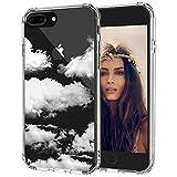 MOSNOVO iPhone 8 Plus Hülle, iPhone 7 Plus Hülle, Wolke Muster TPU Bumper mit Hart Plastik Hülle Durchsichtig Schutzhülle Transparent für iPhone 7 Plus/iPhone 8 Plus (Cloud)