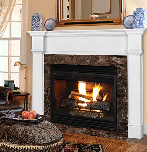 Pearl Mantels 550-48 Richmond Fireplace Mantel Surround, 48-Inch, White