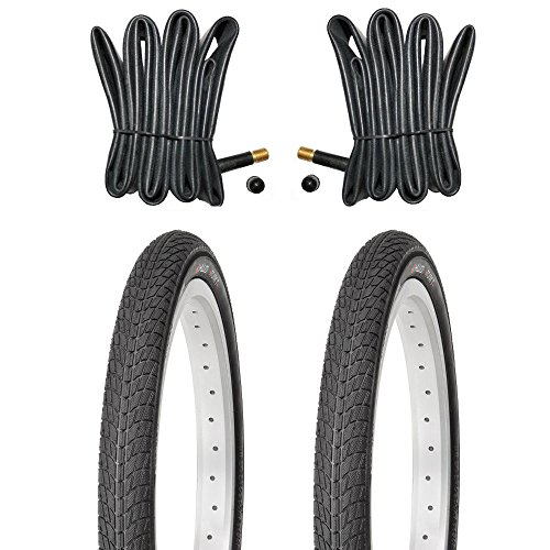 Kujo Resul 2X 16 Zoll Reifen 16x1.75 Zoll inkl. Schläuche mit Autoventilen, 47-305