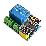 SODIAL Modulo de Rele WiFi ESP8266 ESP-01S 5V Interruptor de Control Remoto Inteligente para el hogar para Arduino Aplicacion de telefono Modulo de WiFi inalambrico ESP01S