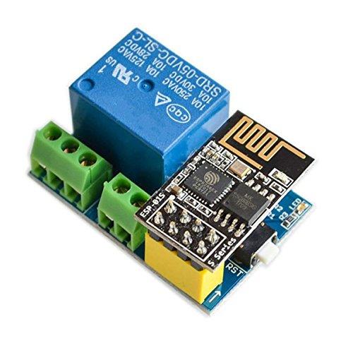 Semoic Modulo de Rele WiFi ESP8266 ESP-01S 5V Interruptor de Control Remoto Inteligente para el hogar para Arduino Aplicacion de telefono Modulo de WiFi inalambrico ESP01S