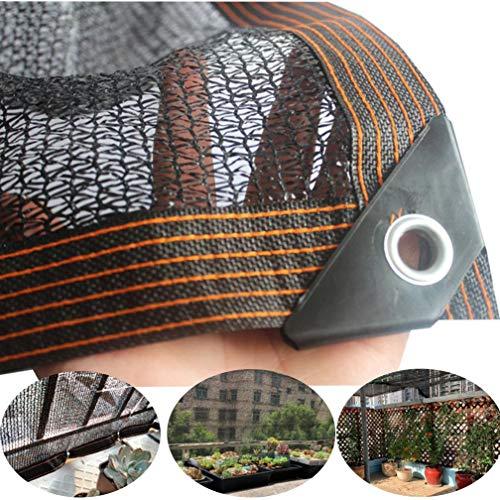 Schattiernetz Black Sun Net Mesh Shade Paño de protección Solar Red Resistente a los Rayos UV para jardín Planta de Flores para Invernadero para jardín Patio y Plantas