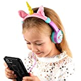 DURAGADGET Volume Limiting Magical Unicorn Kids' Headphones with Audio Sharing Port - Compatible with TENSAFEE MP3 Player Bluetooth