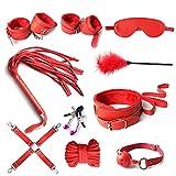 Leather Toy Kit Accessori Sportivi Set, Rosso da 7 Pezzi...