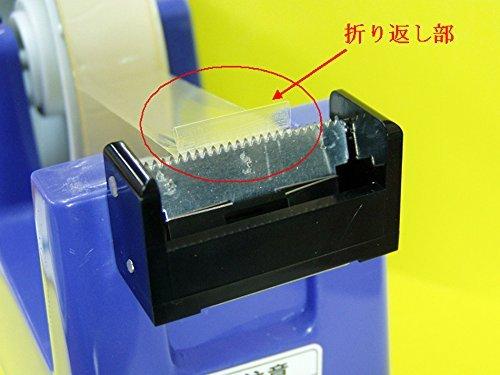 くるりんカッターユニット(1箱2個入り)カラー:ブラック お持ちのテープカッターで折り返しタブが自動で作れる!