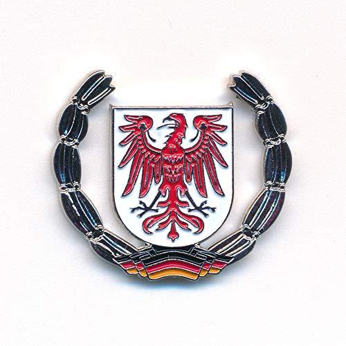 hegibaer Land Brandenburg Wappen Potsdam Cottbus Deutschland Badge Pin Brosche Anstecker 0928