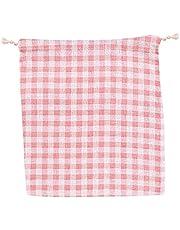 SHUAIGE - Bolsa de almacenamiento de dibujos animados con cordón, bolsillo de fresa fresco y lindo es muy adecuado para regalos para novia e hija. Material: algodón. Tamaño: 16 x 13 cm.